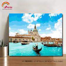 Tranh tô màu theo số BC0051 Tranh sơn dầu số hóa phong cảnh Venice - Hòn  ngọc của biển Adriatic, giá chỉ 188,000đ! Mua ngay kẻo hết!