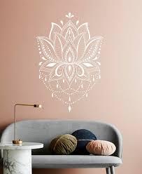 Lotus Wall Decal Mandala Decal Yoga Decal Yoga Studio Etsy Vinyl Wall Decals Mandala Decals Wall Decals