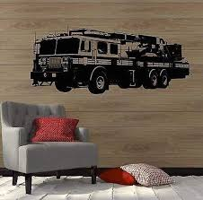 Amazon Com V Studios Wall Decal Fire Truck Engine Firetruck Boys Room Vinyl Stickers Vs2812 Home Kitchen