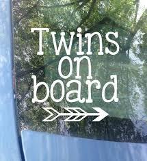 Twins On Board Car Decals Mrs Tollett Designs