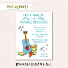 Invitacion De Fiesta De Musica Invitacion De Fiesta De Etsy