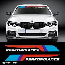Amazon Com 2pcs M Performance 2018 Front Rear Windshield Window Banner Vinyl Decal Stickers For Bmw F10 F30 E90 E60 E39 E36 E30 X1 X3 X5 X6 Z4 M3 M4 M5 White Arts