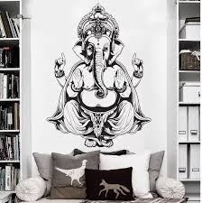 Removable Watrproof Wallpaper Vinyl Wall Sticker Art Decor Wall Decal Ganesh Buddha Elephant Om Yoga Hindu Mandala D183 Vinyl Wall Stickers Decorative Wall Decalwall Sticker Aliexpress