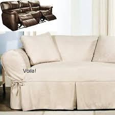 reclining sofa slipcover ivory heavy