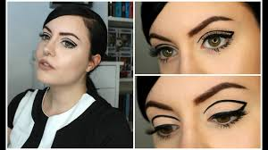 sixties themed party makeup hair