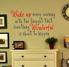 On Sale Love This Cute Wake Up Every Morning Quote Wall Decal Gmddecals Inspiring Perfect For Bedroom Or Entry Wall Vinyl Decor Vinyl Wall Decals Wall Quotes