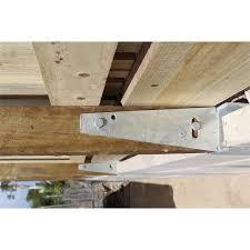 Pioneer 580mm X 100mm X 6mm Galvanised Steel Straight Fence Bracket