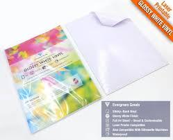 A4 Blank Glossy Vinyl Laser Printable Self Adhesive Sticker Etsy