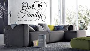 Our Family Together Forever Words Wall Decal Lettering Sticky Quote Decor 24 For Sale Online