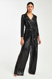 Pin by Adela Ward on Outfit ideas (With images)   Sequin jumpsuit, Black  sparkle, Wide leg jumpsuit