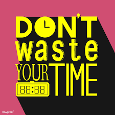 premium vector of don t waste your time typography design