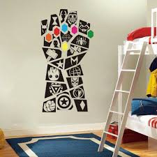 Superhero Wall Decal Avengers Design Wall Mural Hero Iron Man Spiderman Wall Sticker Thor Hulk Vinyl Boys Room In 2020 Avengers Room Marvel Room Wall Stickers Bedroom
