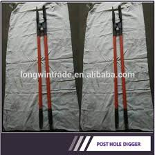 wooden handle post hole digger