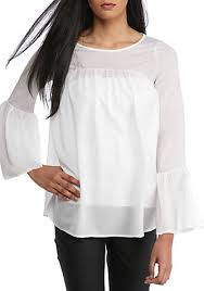 French Connection Polly Bell Ruffle Top | belk