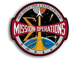 Nasa Mission Operations Logo Shaped Sticker Decal Seal Space Size 4 X 4 Inch Walmart Com Walmart Com