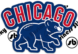Chicago Cubs Walking Bear Cub Baseball Vinyl Sticker Laptop Bears Blackhawks Ebay