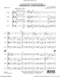 Moore - Mission: Impossible Theme sheet music (complete ...
