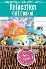 diy relaxation gift basket fun easy