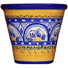 8 inch fiesta yellow garden pot from