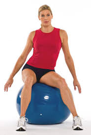 hip circles on an exercise ball