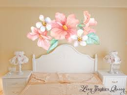 Pink And Peach Flower Wall Decals
