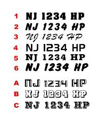 Boat Registration Number Decal Boat Number Decal Custom Vinyl Decal Boat Letter Number Decals Boat D Custom Vinyl Decal Custom Vinyl Vinyl Lettering