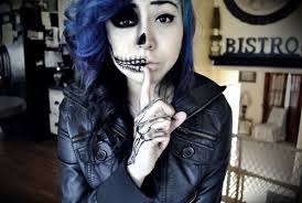 emo skull makeup pictures photos and