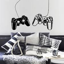Creative Video Game Sticker Vinyl Wall Decals For Kids Room Nursery Gamer Room Decor Art Mural Play Decal Gaming Poster Lw36 Wall Stickers Aliexpress