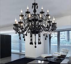 black murano glass crystal chandelier
