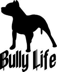 Bully Life With Pitbull Vinyl Decal Sticker Ebay