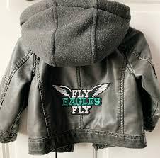 philadelphia eagles faux leather jacket