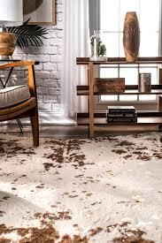 vaquero macchiato faux cowhide rug