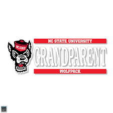 Nc State Wolfpack Wolfhead Grandparent Vinyl Decal Red And White Shop