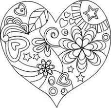 163 best heart coloring pages images