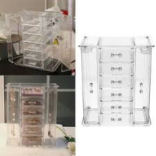 clear acrylic 6 makeup drawers holder
