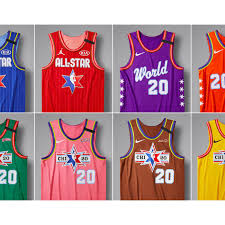 NBA All-Star 2020: The 8 different jerseys colors you'll see in ...