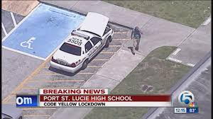 lockdown at Port St. Lucie High School ...