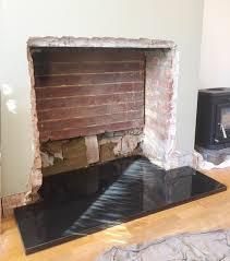 wood burning stove installation step