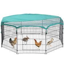 Bestpet Pet Playpen Crate 8 Panel Chicken Coop Hen Rabbit Hutch Outdoor Metal Protable Animal Exercise Dog Fence