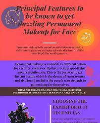 permanent makeup face addinfographic