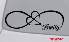 Love Infinity Forever Symbol Vinyl Decal Car Window Bumper Sticker Heart Family