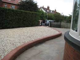 drive and low maintenance front garden