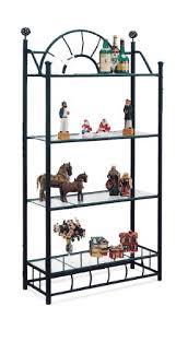 4 tier black metal book shelf