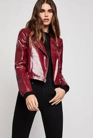 15 outfits with patent leather jackets