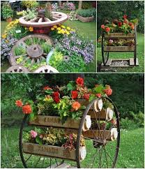 10 Amazing Ideas To Decorate Your Home With Wagon Wheels Decorative Garden Fencing Garden Yard Ideas Garden Projects
