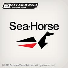 Johnson Sea Horse Logo Decal