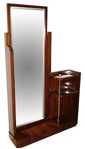 asymmetrical rosewood standing mirror