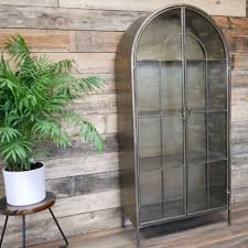 industrial style display cabinet with