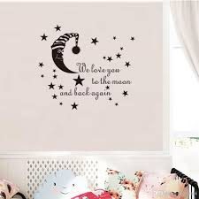 We Love You To The Moon And Back Again Wall Sticker Quote Vinyl Moon And Stars Decal For Baby Room And Nursery Decoration Bird Wall Decals Bird Wall Stickers From Carrierxia 3 02