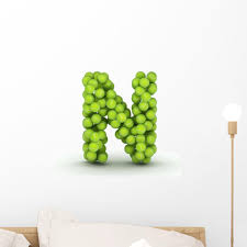 Letter N Tennis Balls Wall Decal Wallmonkeys Com